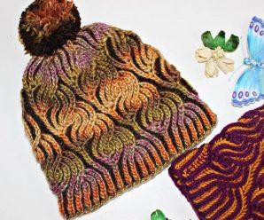 Вязание шапки Бриошь — схема техники в стиле Бриошь