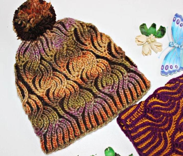 вязание шапки бриошь