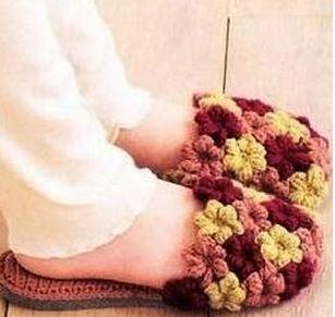 вязание тапочек крючком пошагово